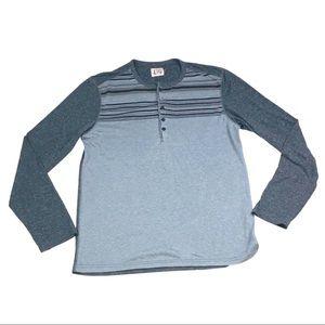Howe long sleeve striped baseball styled shirt
